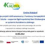 Laptopy zakupione w ramach projektu Zdalna Szkoła  trafiły do szkół w Gminie Księżpol
