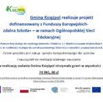 Gmina Księżpol  otrzymała drugą dotację na zakup sprzętu do organizacji nauczania zdalnego.