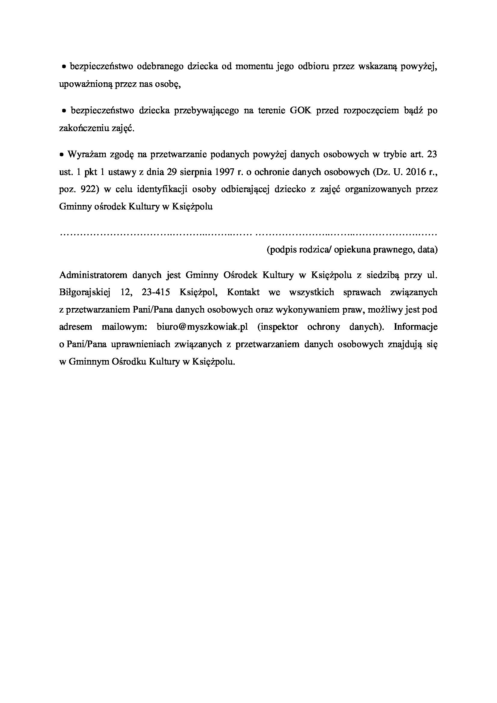 Informacja z działalności placówek oświatowych w 2019 r.