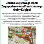 Analiza materiałów i raport z  przeprowadzenia  konsultacji  społecznych dotyczących zmiany  zagospodarowania miejscowego planu przestrzennego w  obrębie  całej  Gminy Księżpol.
