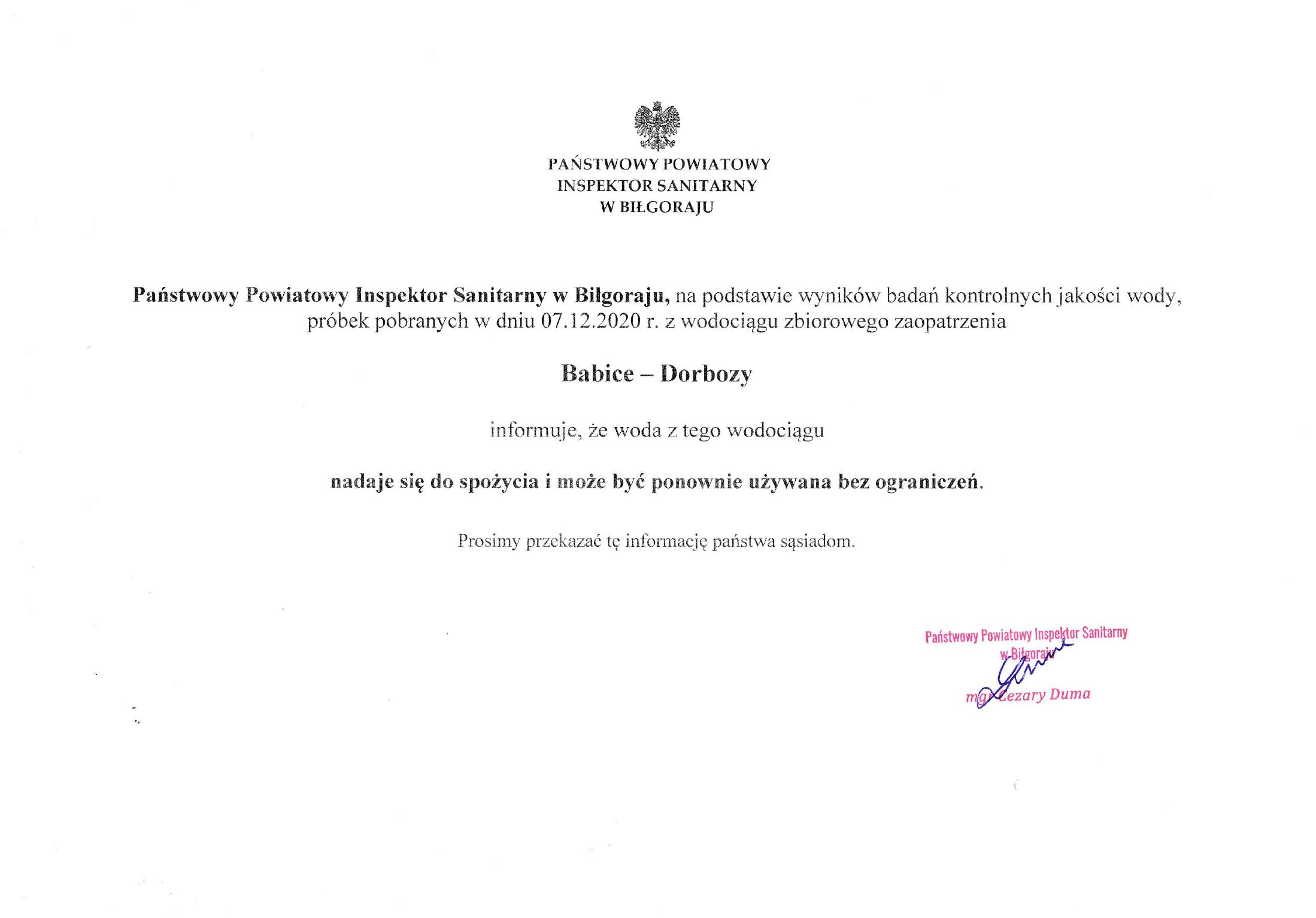 Informacja PPIS w Biłgoraju