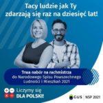 Nabór kandydatów na rachmistrzów spisowych NSP2021
